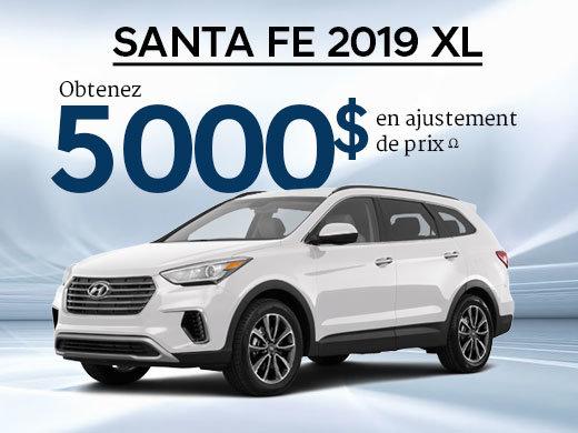 5 000$ en ajustement de prix pour le Santa Fe XL Essential 2019 chez Hyundai Shawinigan à Shawinigan