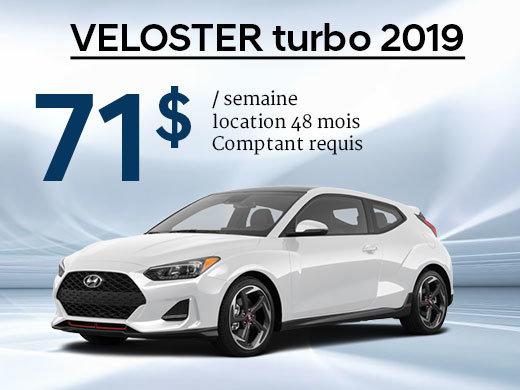 Seulement 71$ par semaine pour le Hyundai Veloster TURBO 2019 chez Hyundai Trois-Rivières à Trois-Rivières