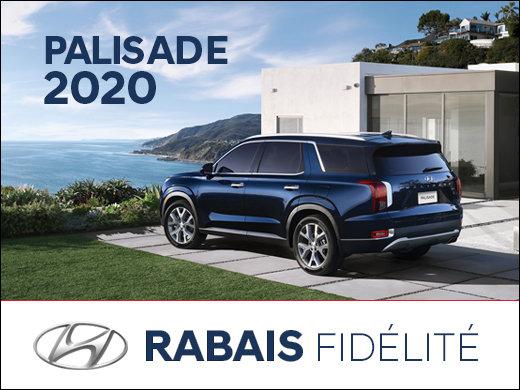 Rabais fidélité de 750$ sur les Palisade 2020 chez Hyundai Trois-Rivières à Trois-Rivières
