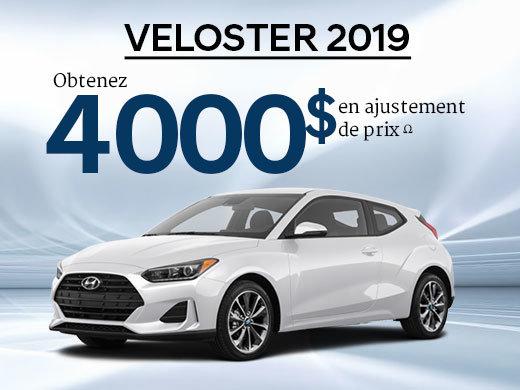 Jusqu'à 4 000$ en ajustement de prix sur TOUS les Veloster 2019! chez Hyundai Shawinigan à Shawinigan
