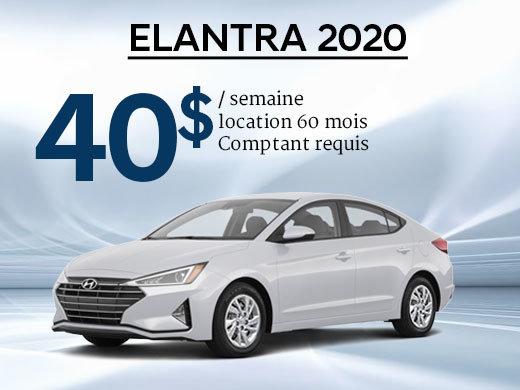Seulement 40$/semaine pour une Hyundai Elantra 2020 chez Hyundai Shawinigan à Shawinigan