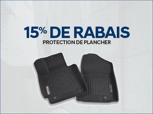 15% de RABAIS sur les protecteurs de plancher chez Hyundai Trois-Rivières à Trois-Rivières