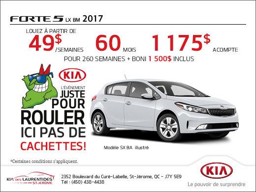Louez la nouvelle Kia Forte5 2017 aujourd'hui