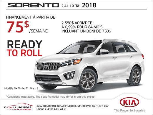 The 2018 Kia Sorento
