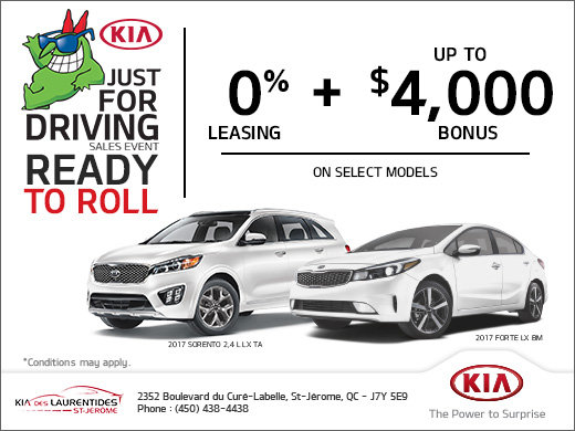 Just for Driving Sales Event!