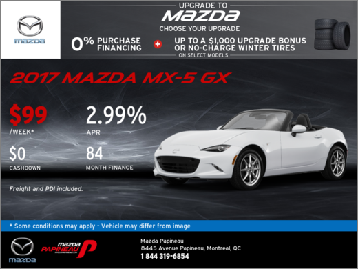 Save on Our All-New 2017 Mazda MX-5