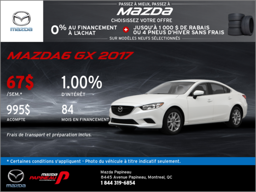 Voyez la Mazda6 2017
