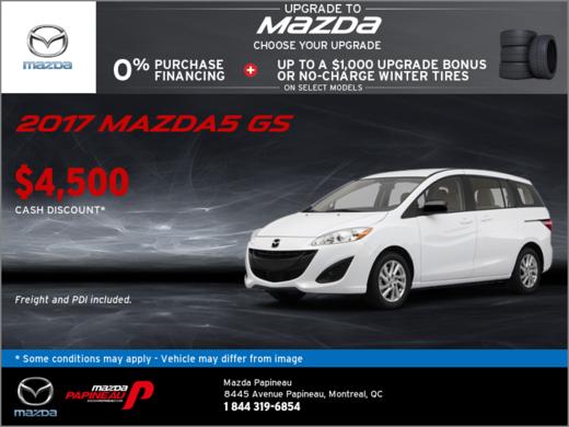 Save Big on the 2017 Mazda5 GS!
