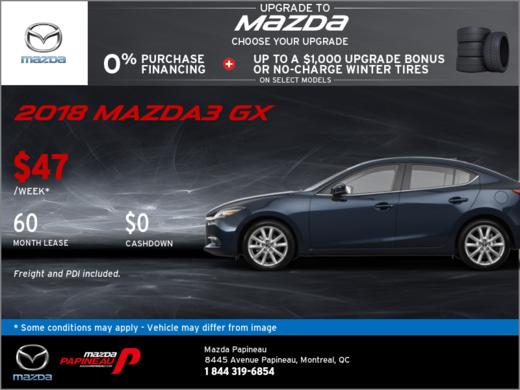 Save Big on the 2018 Mazda3!