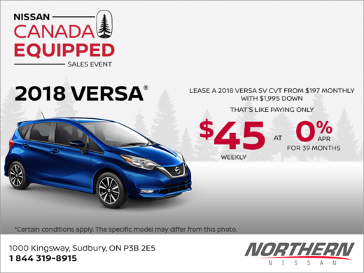 Get the 2018 Versa Note today!