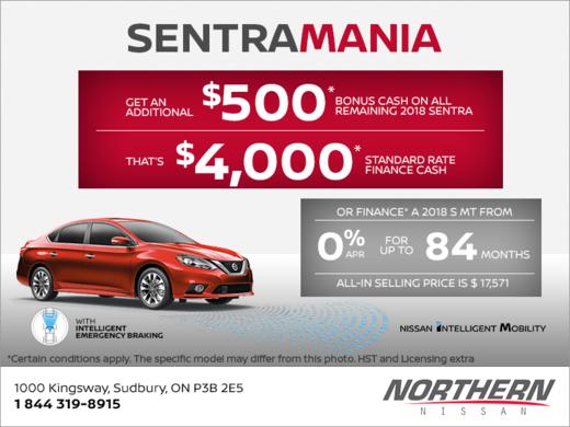 It's Sentra Mania at Nissan!