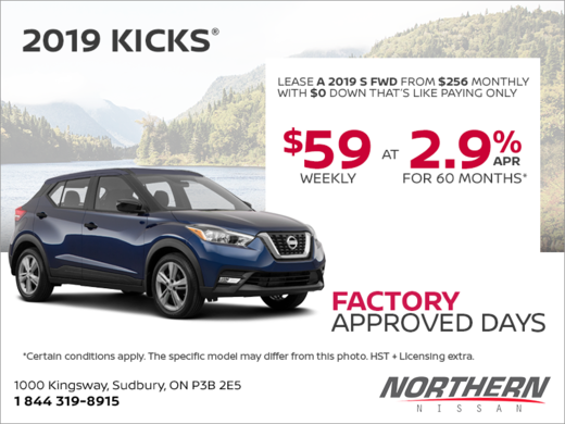 Get The 2019 Nissan Kicks Today Northern Nissan Promotion In Sudbury