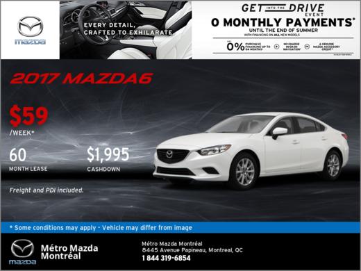 Save Big on the 2017 Mazda6 GX!