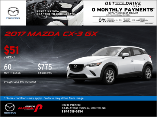 Get Our 2017 Mazda CX-3