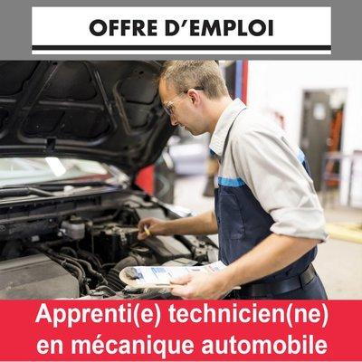 Apprenti (e) Technicien (ne) en mécanique automobile