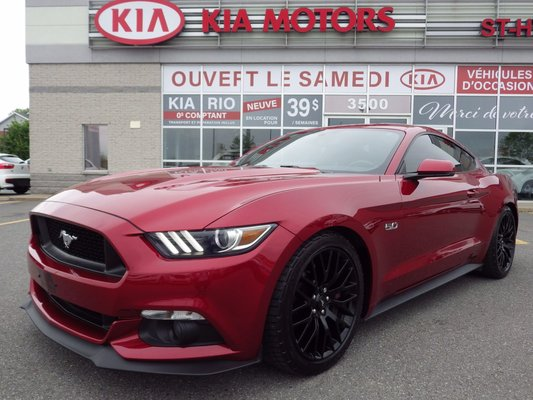 ford mustang gt premium 5 0l performance sport package 2015 rouge neuf 36 988 kia saint. Black Bedroom Furniture Sets. Home Design Ideas