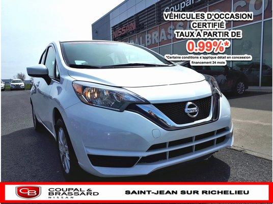 2018 Nissan Versa Note SV*AIR CLIM.*BLUETOOTH*CAMÉRA DE RECUL*