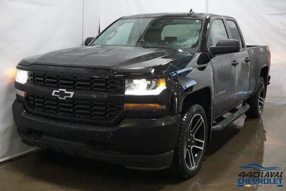 New 2018 Chevrolet Silverado 1500 Custom Double Cab Black