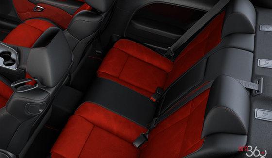 Black Nappa Leather/Alcantara w/Red Inserts