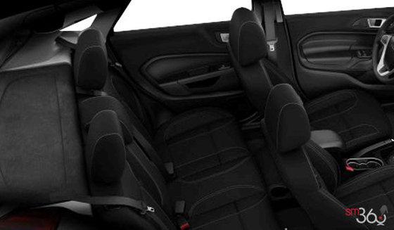 Traversin en tissu unique noir anthracite avec coutures argentées sur les sièges