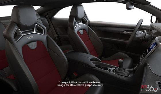 Cuir Recaro Noir jais/Rouge Morello (W2E-HQ9) avec dossiers de sièges et empiècements en microfibre suédée