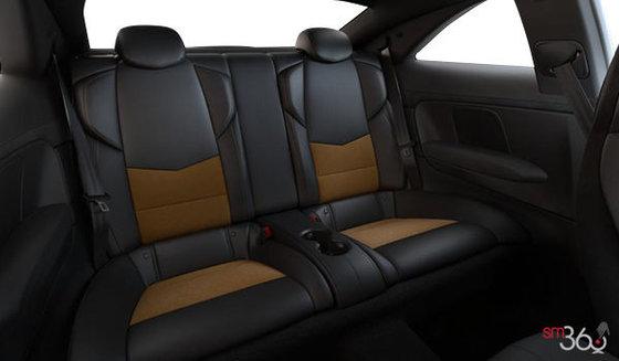 Jet Black/Saffron Recaro Leather (W2E-HG2) with sueded microfiber inserts and seatbacks