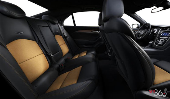 Cuir Noir jais contrastes Safran avec garnissage des sièges en cuir semi-aniline (HG2-AE4)