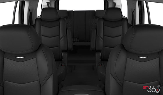 Jet Black Front bucket Leather Seating Surfaces with Mini Perforated Inserts (H2X-AN3)