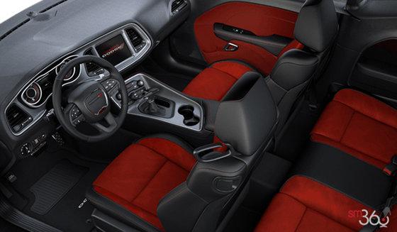 Black/Ruby Red Alcantara Vented Leather (ECXC)