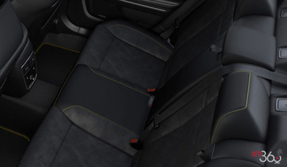 Alcantara Vented Black Leather with Brazen Gold Stitching (YLKX)