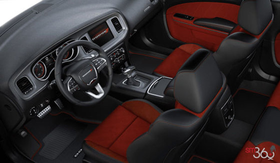 Alcantara Black Leather with Red Inserts (GQXC)