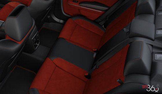 Alcantara Black Leather with Red Inserts (T5XC)