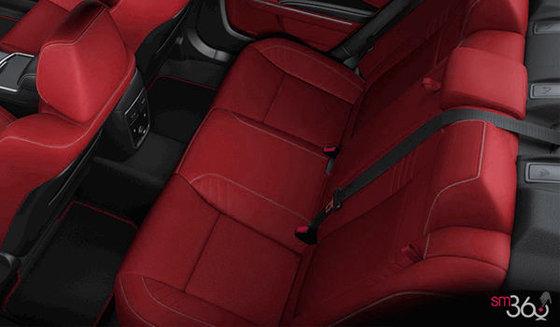 Cuir Laguna noir et rouge foudroyant et logo SRT Hellcat (W8X6)