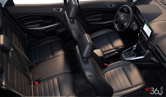 Ebony Black Perforated Leather