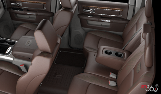 Canyon Brown/Light Frost Beige Buckets Seats Vented Leather with Laser Etching (UXJ1)