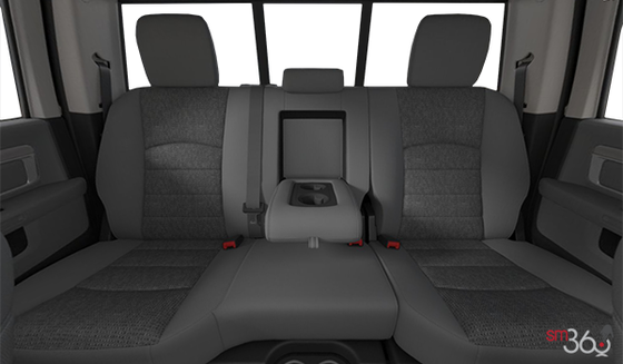 Diesel Grey/Black Cloth Front 40/20/40 Bench Seat (V9X8)