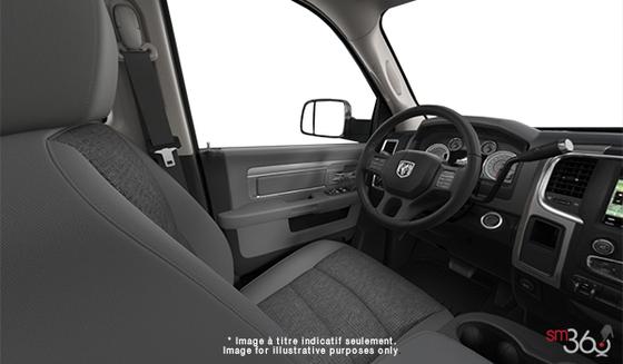 Tissu haut de gamme Gris diesel/Noir Siège banc avant 40/20/40(M9X8)