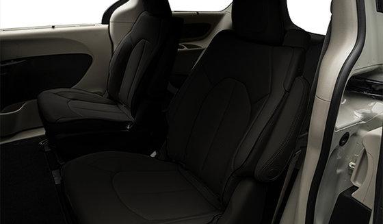 Cuir ventilé Nappa noir avec coutures gris diesel (ALX7)