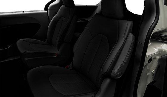 Tissu noir avec coutures gris diesel clair (F7X3)