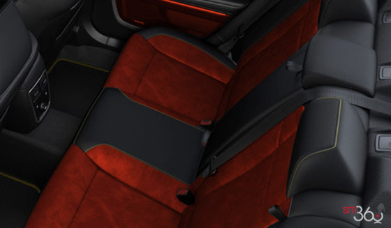 Black Alcantara Leather with Red Inserts (GQXC)