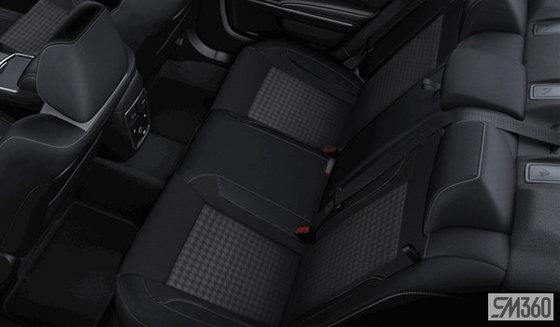 Tissu sport noir avec empiècement pied-de-poule (HTX9)