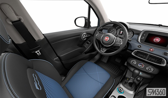Seats with Blue Inserts - Black Cloth (V8X9)