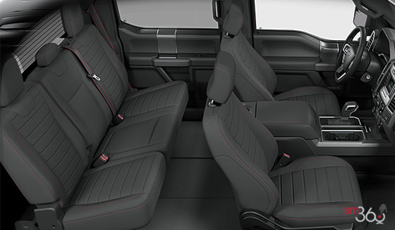 Black Special Edition Cloth bucket seats w/red stitching (XB)