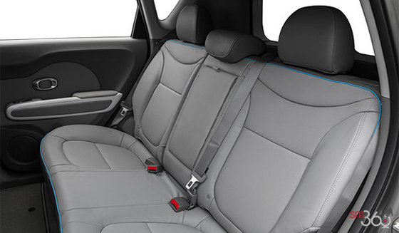 Two-tone Grey Leather with Sky Blue Piping/Stitching