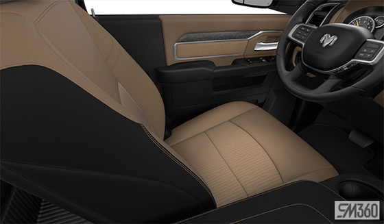 Light Mountain Brown/Black Cloth Bench Seat (V9X5)