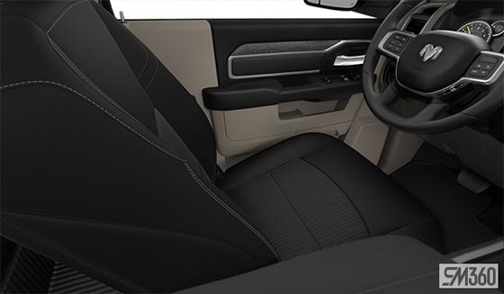 Light Frost Beige/Black Premium Cloth Bucket Seat (MJXL)