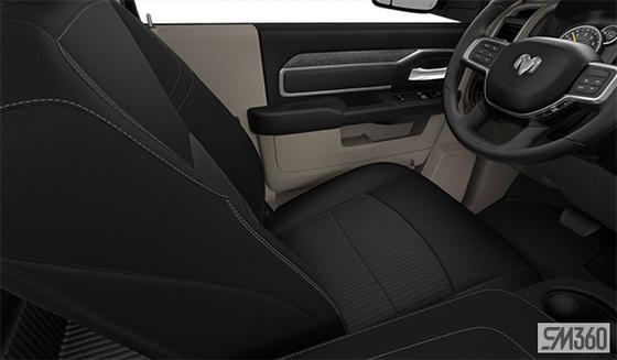 Light Frost Beige/Black Cloth Bench Seat (V9XL)