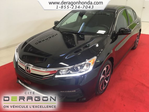 Honda Accord Sedan EX-L + SEULEMENT 36 075 KM + GARANTIE PROLONGEE 2016