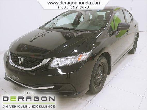 2015 Honda Civic Sedan DX+BAS KILOS.+LECTEUR CD+VITRES ELECTRIQUES