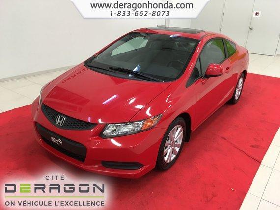 Honda Civic Coupe EX+TOIT OUVRANT+MAGS+DÉMARREUR+ AIR CLIMATISÉ 2012